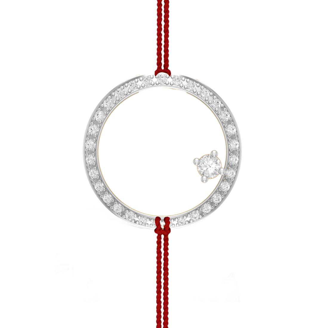 Charu Jewels Circle of Love Diamond Pendant for Rakhi