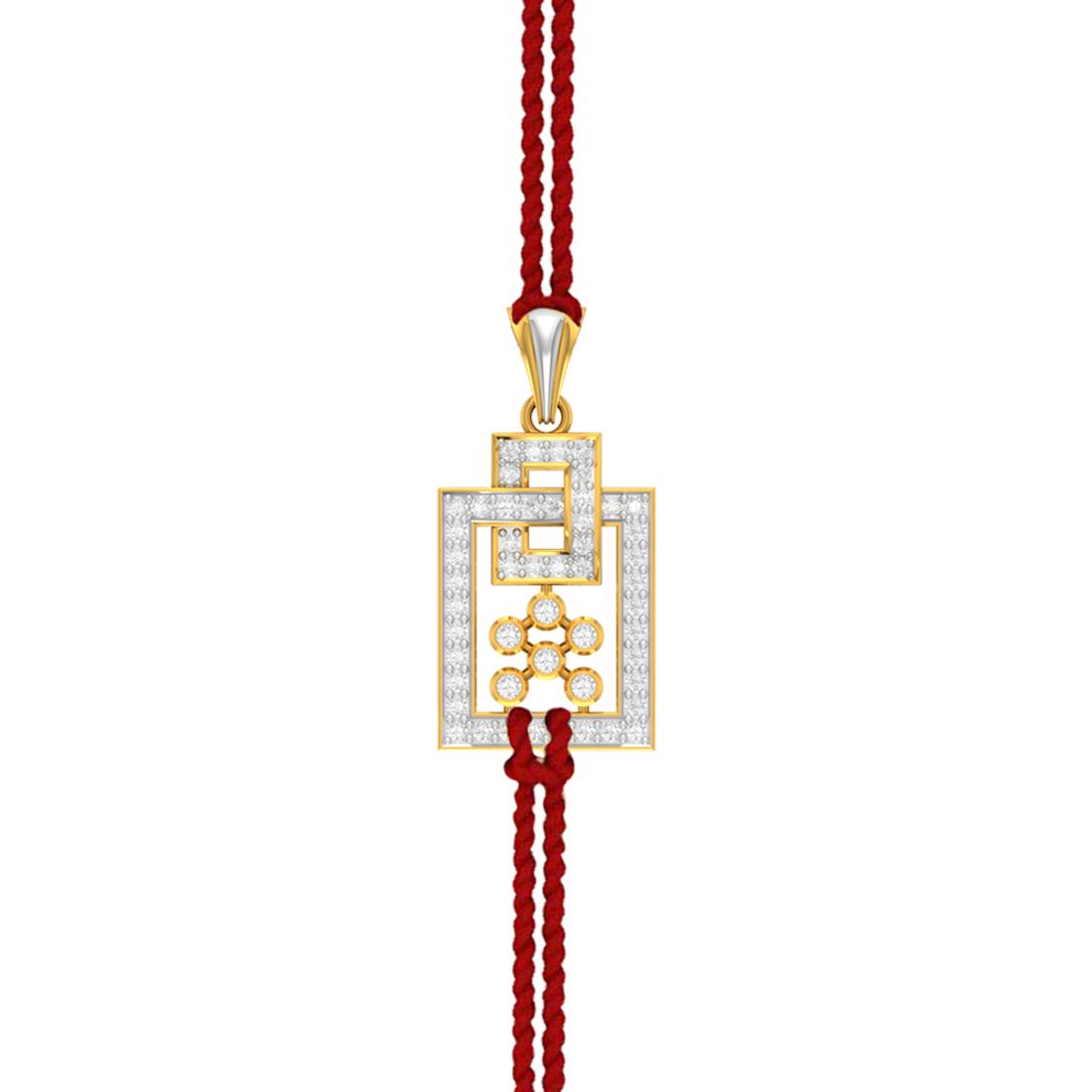 Charu Jewels Amaze Diamond Pendant for Rakhi