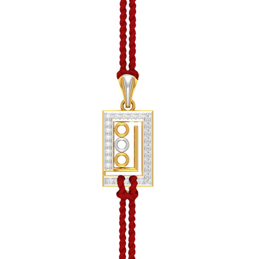 Charu Jewels Triple Balls Diamond Pendant for Rakhi