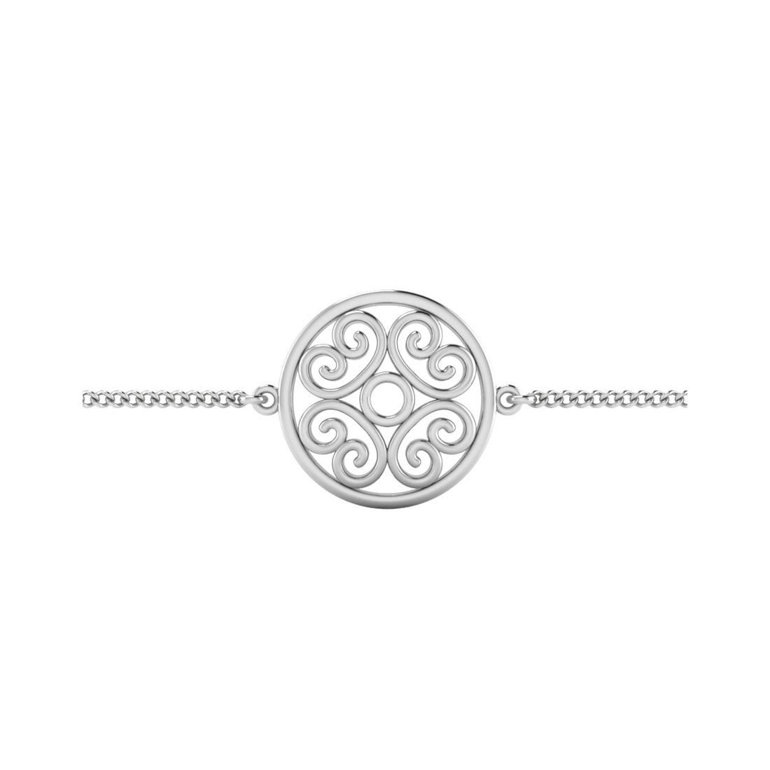 The Unique Silver Rakhi Bracelet