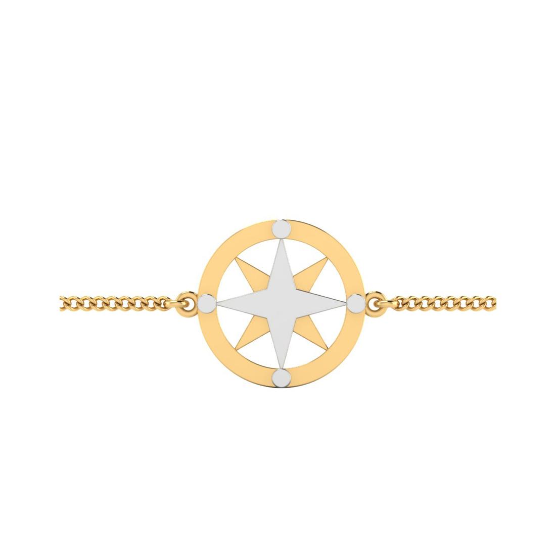 The Adorable Silver Rakhi Bracelet