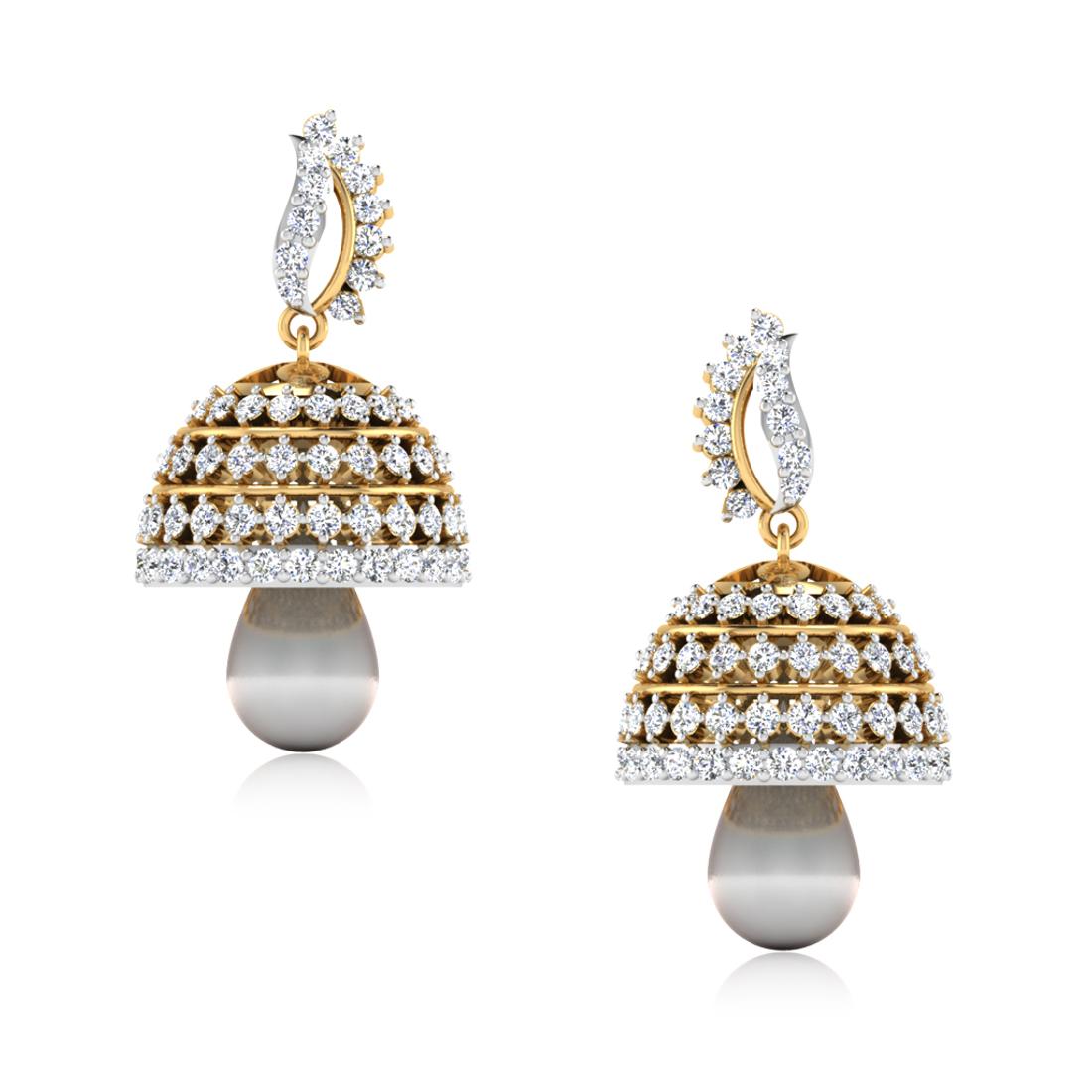 ISKI USKI The Aditri Diamond Jhumkas