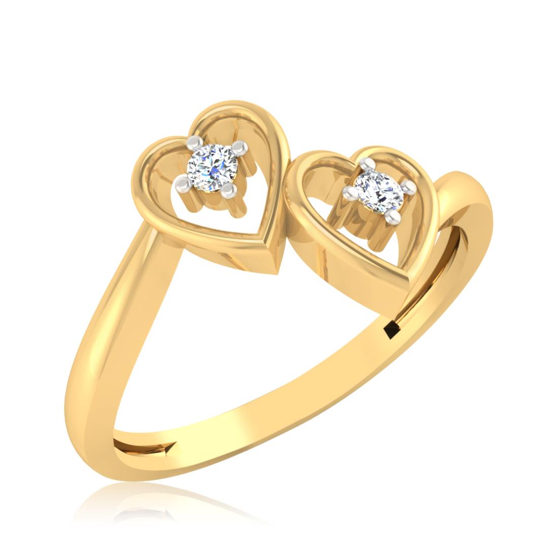 Iski Uski Empress Heart Ring