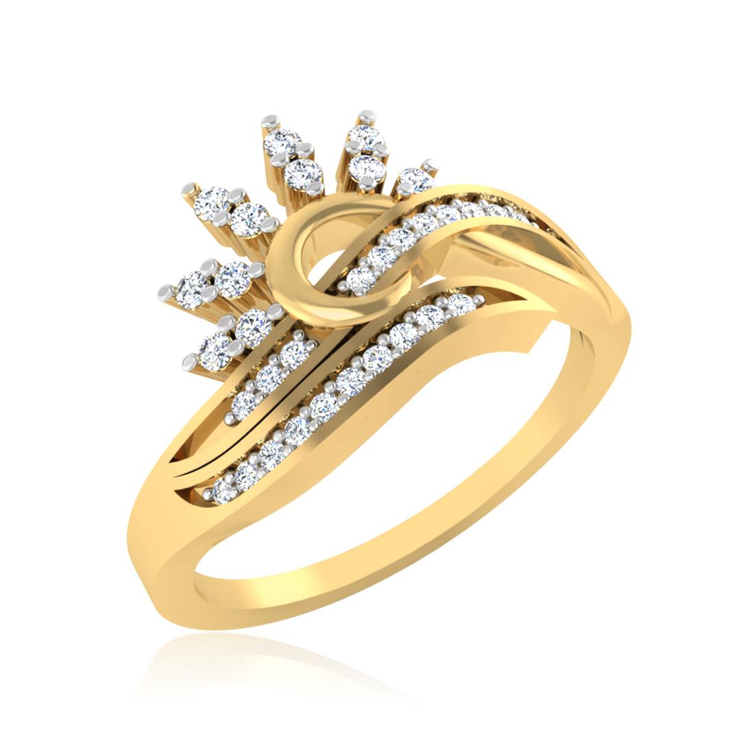 Iski Uski Aura Heart Ring