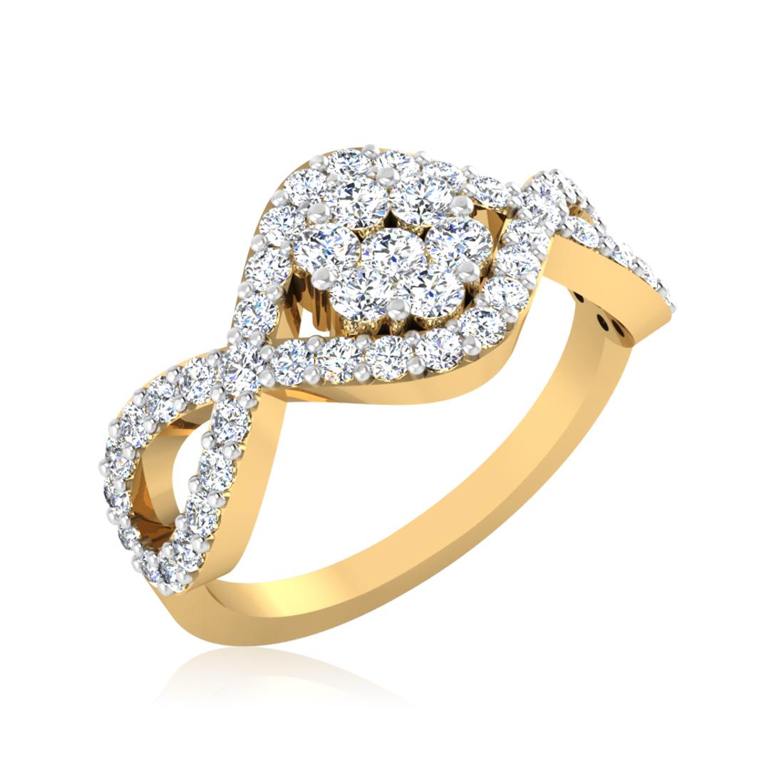 Iski Uski Enticing Floral Ring