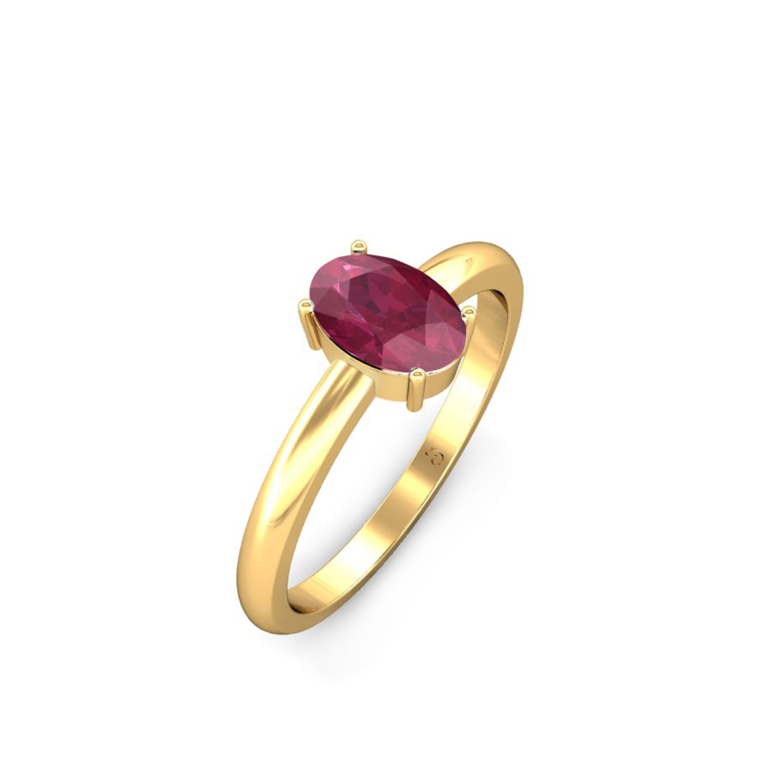 Jewel samarth 18k(750) BIS Hallmark Yellow Gold  Ayesha Red Spinel  Ring (CGL Certified)