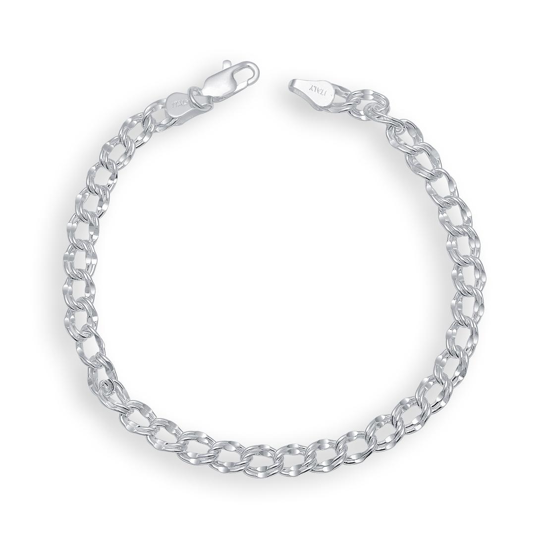 Karatcraft Sterling silver Big Oval design Men Bracelet