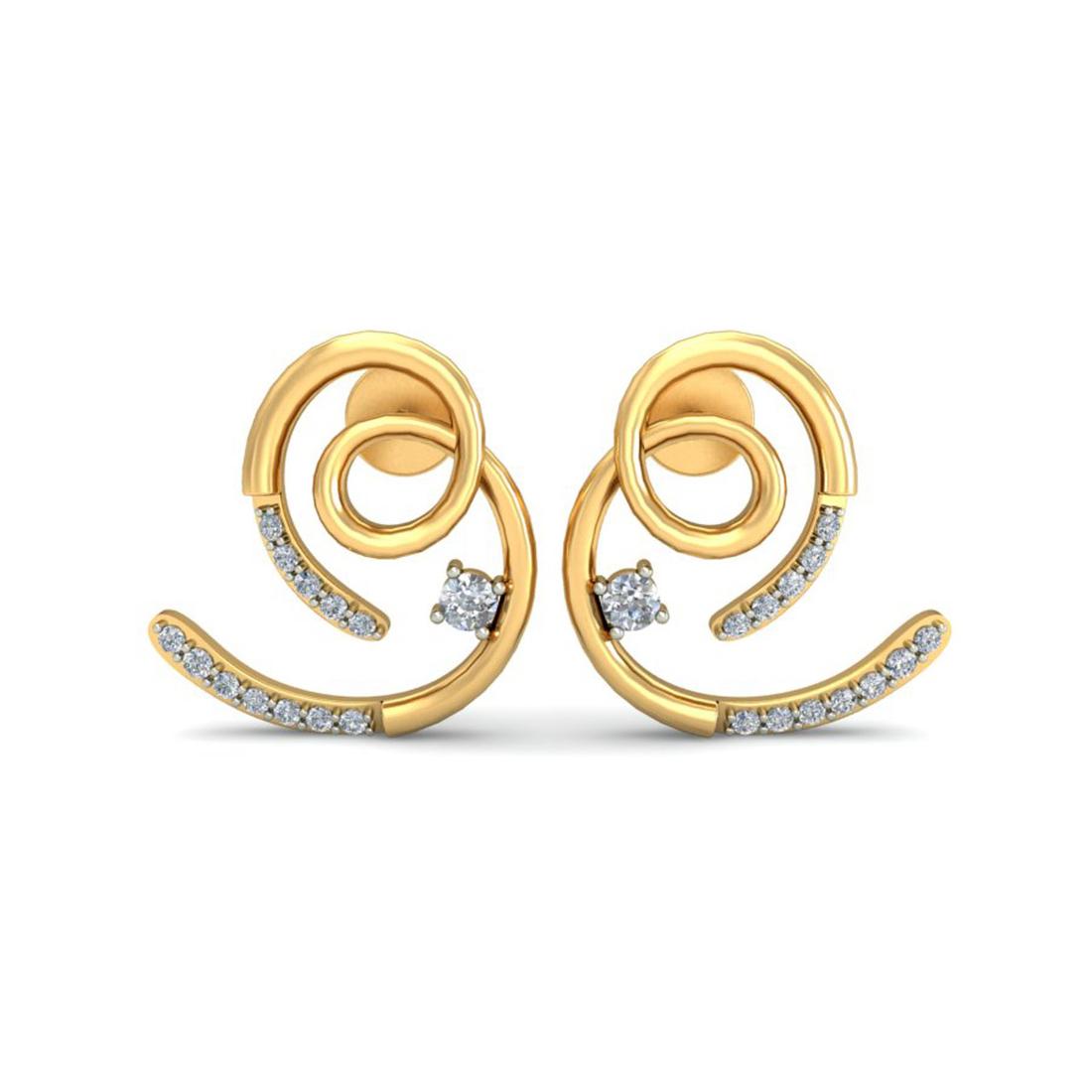 Ornomart's precious curl Earrings