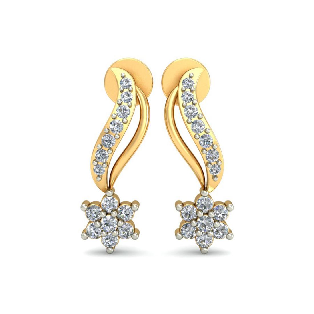 Ornomart's swirling star Earrings