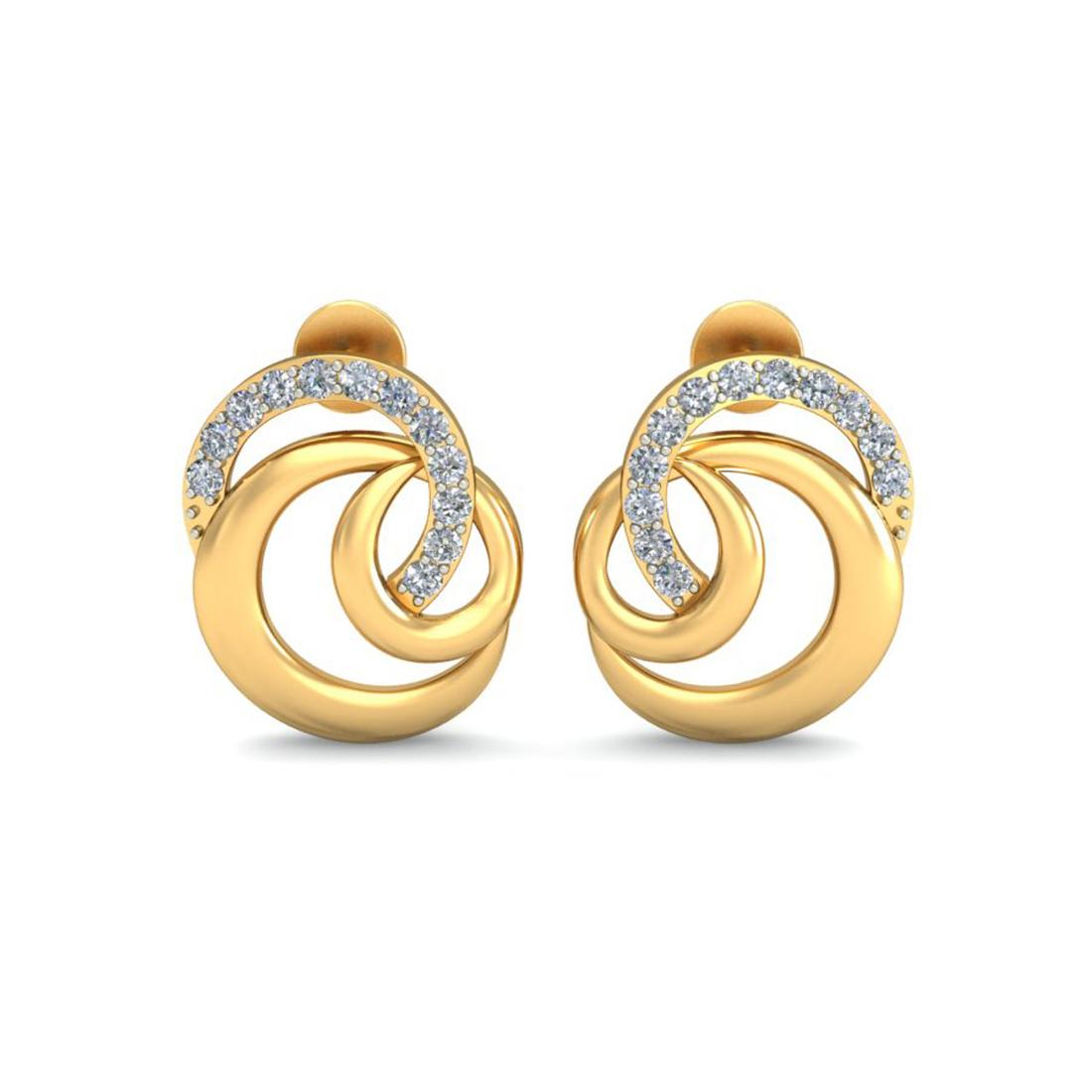 Ornomart's dual circle  Earrings