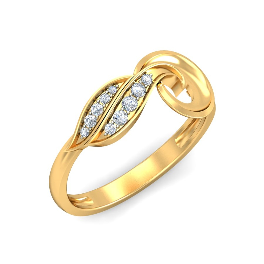 Ornomart's two lined diamond studded Ring