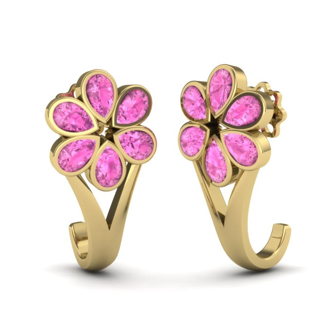 Pinky Pear Shape Gemstone Earrings