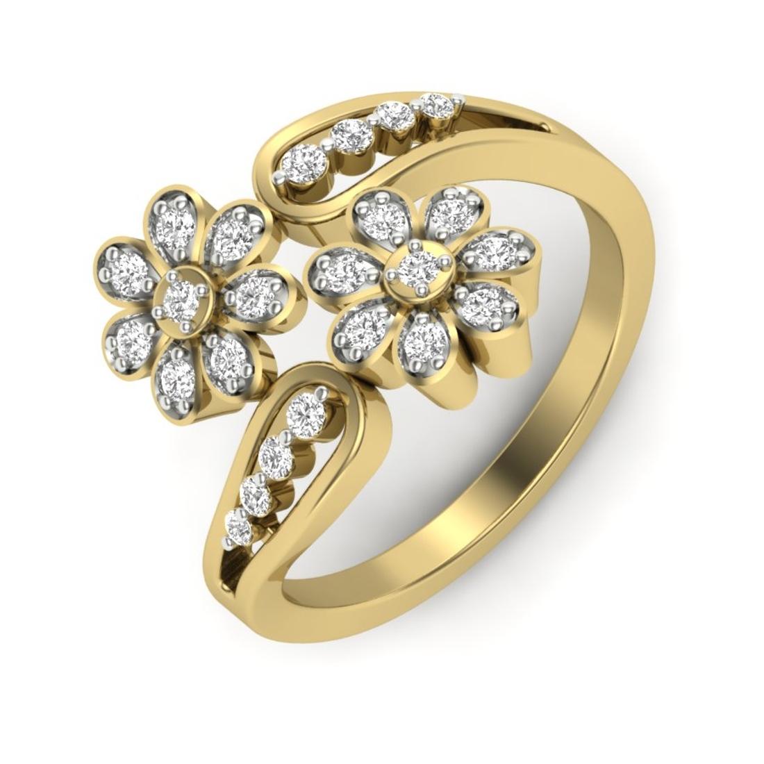 Sofia Flower Design Diamonds Ring