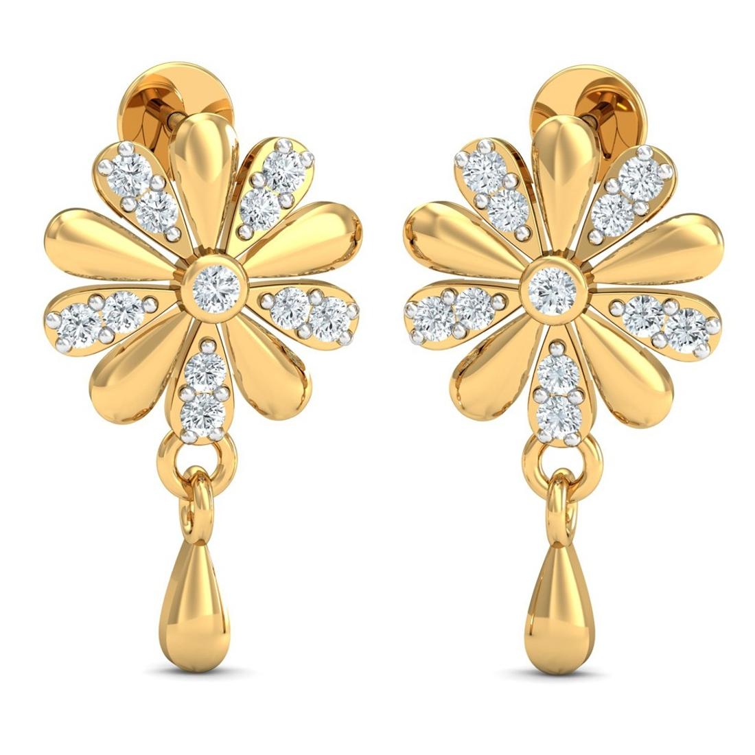 Sarvada Jewels' The Celine Diamond Earrings