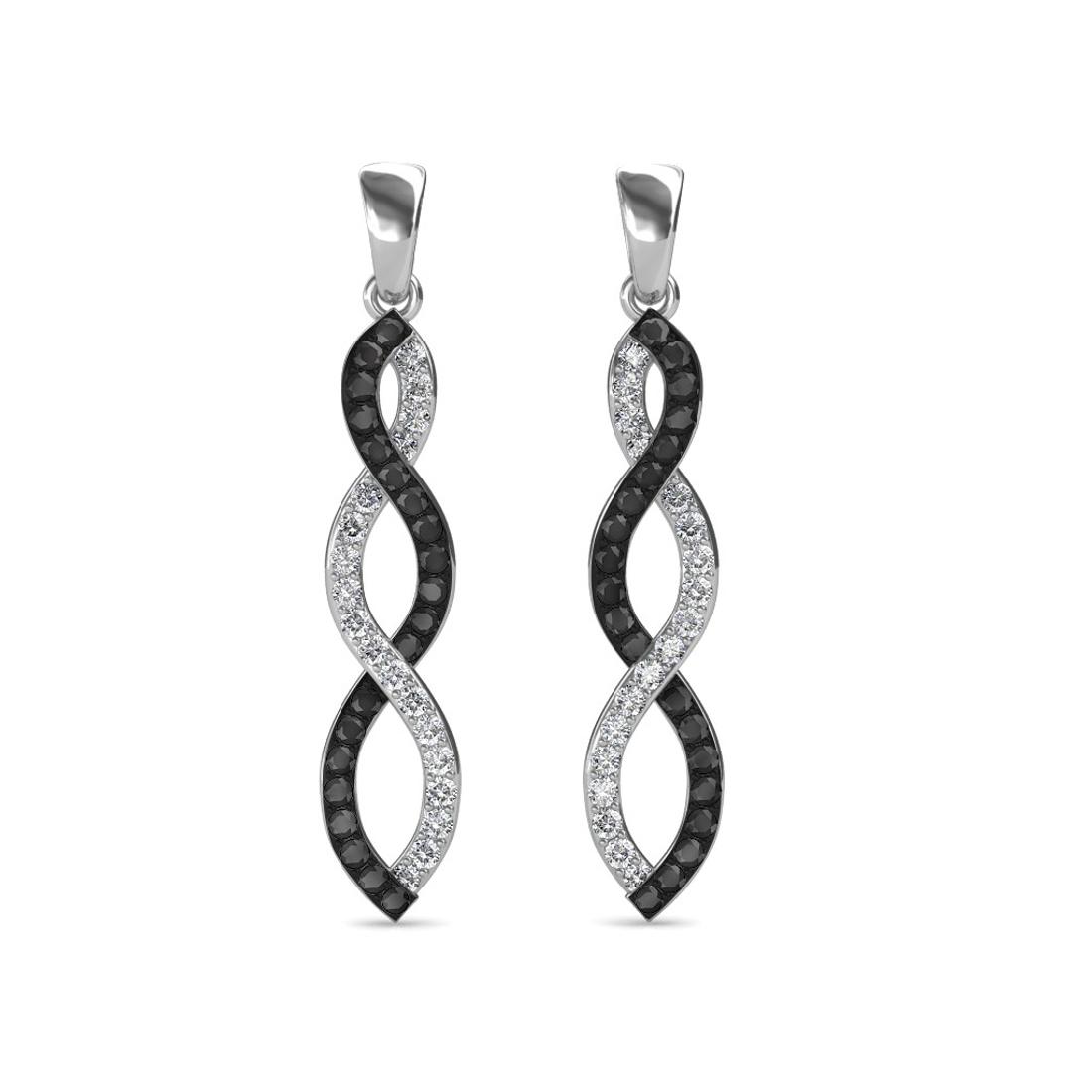Sarvada Jewels' The Ezra Black Diamond Long Earrings