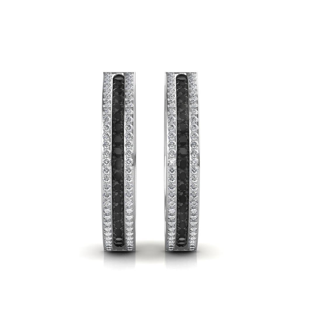 Sarvada Jewels' The Anna Black Diamond Hoop Earrings
