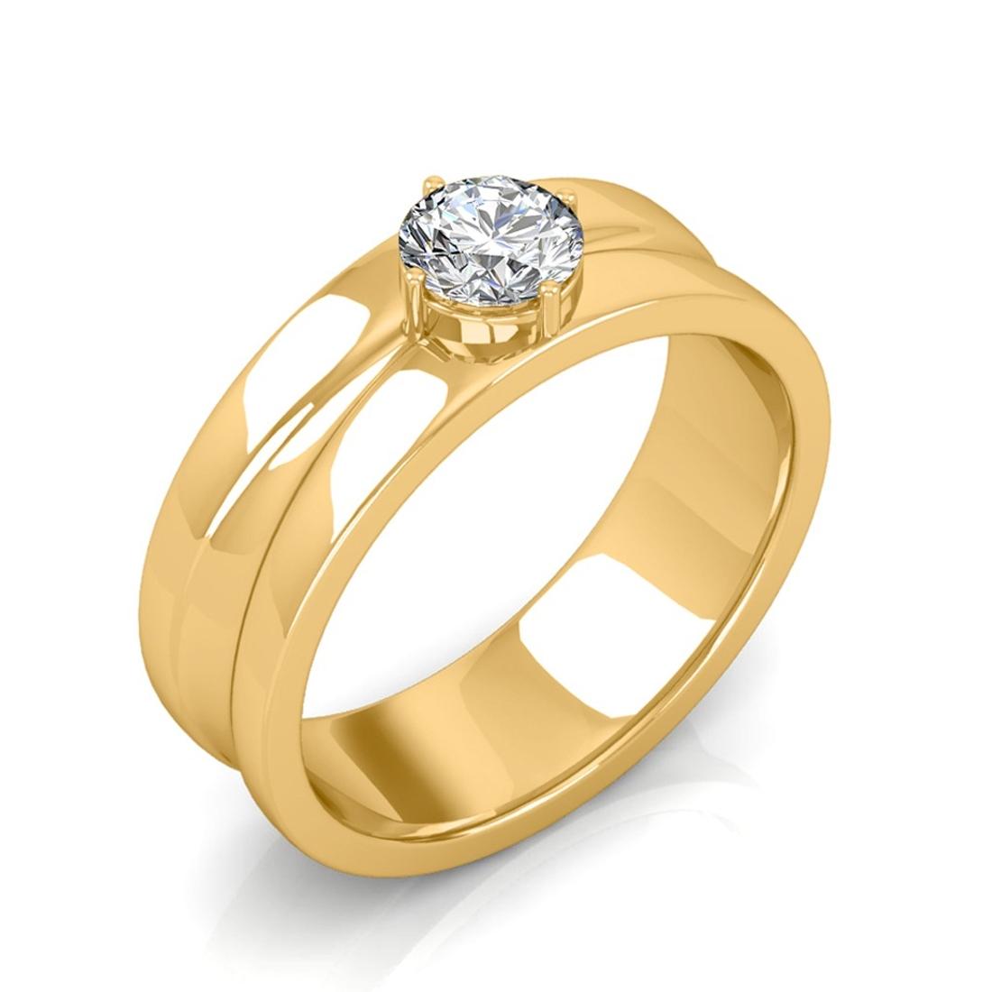 Sarvada Jewels' The Prius Ring For Him - Yellow - 0.50 carat