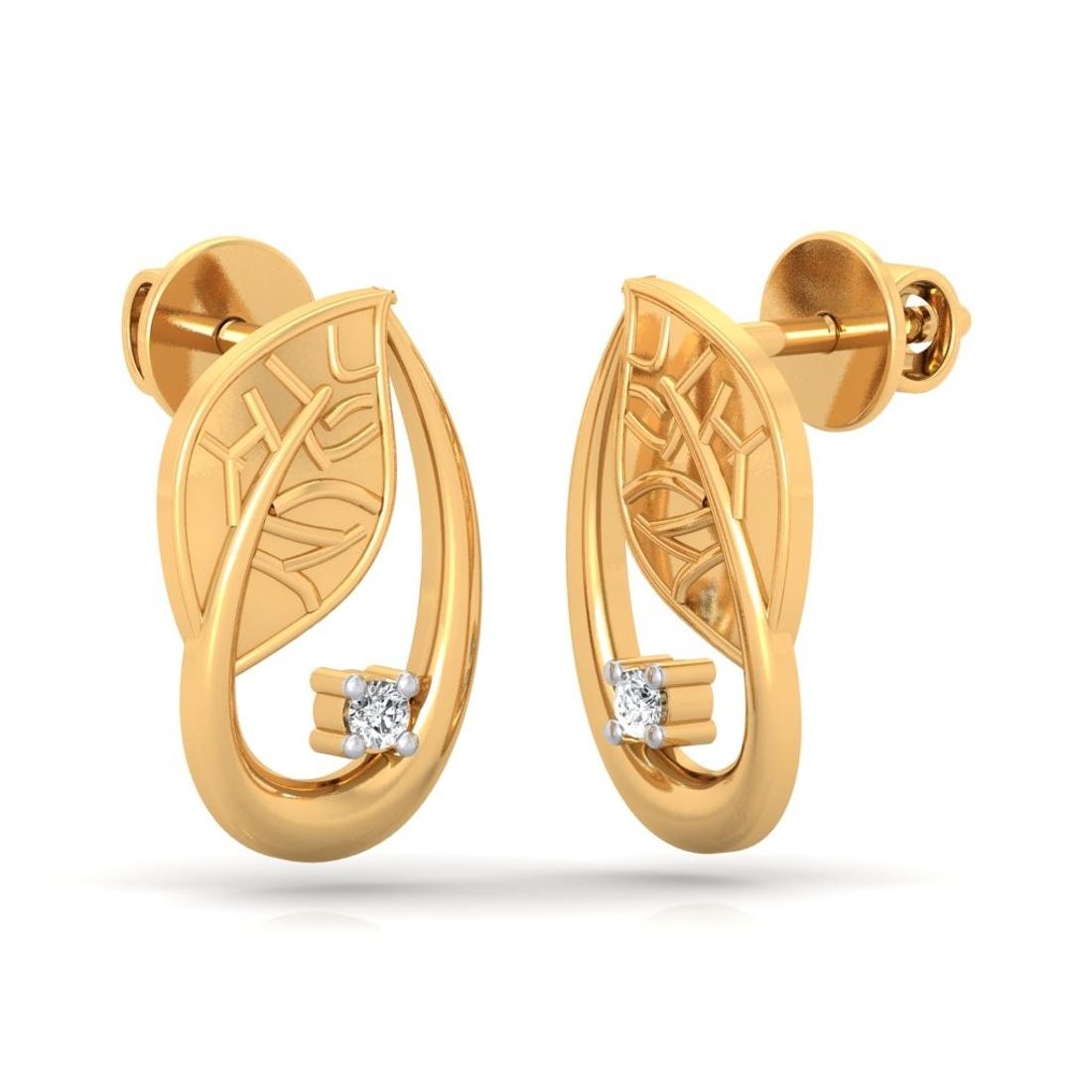 Sarvada Jewels' The Regal Leaf Earrings