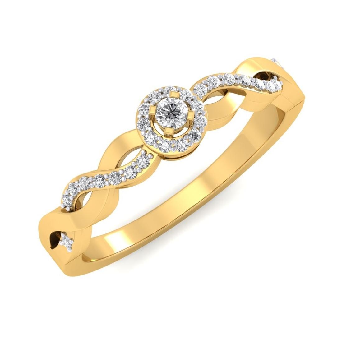 Sarvada Jewels' The Wave Diamond Ring
