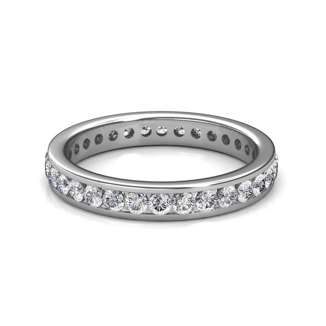 White Gold Channel Set Diamond Full Eternity Ring - 5 cent diamonds