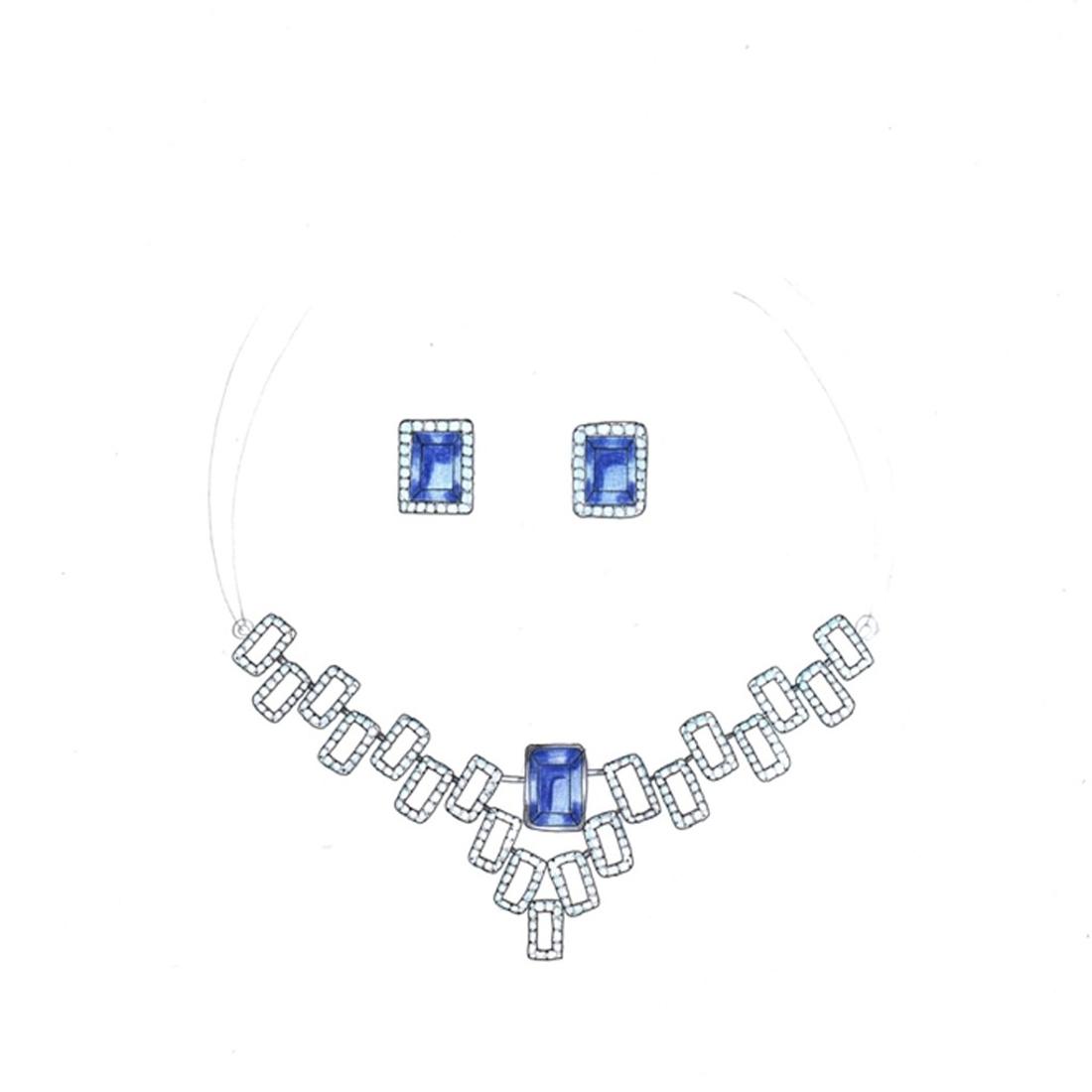 Sarvada Jewels' The Celestial Necklace Set