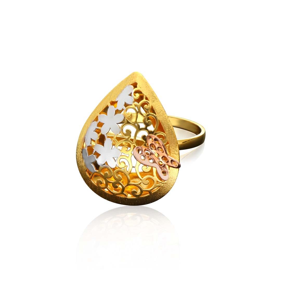 Italian Gold Ladies Ring ILR116