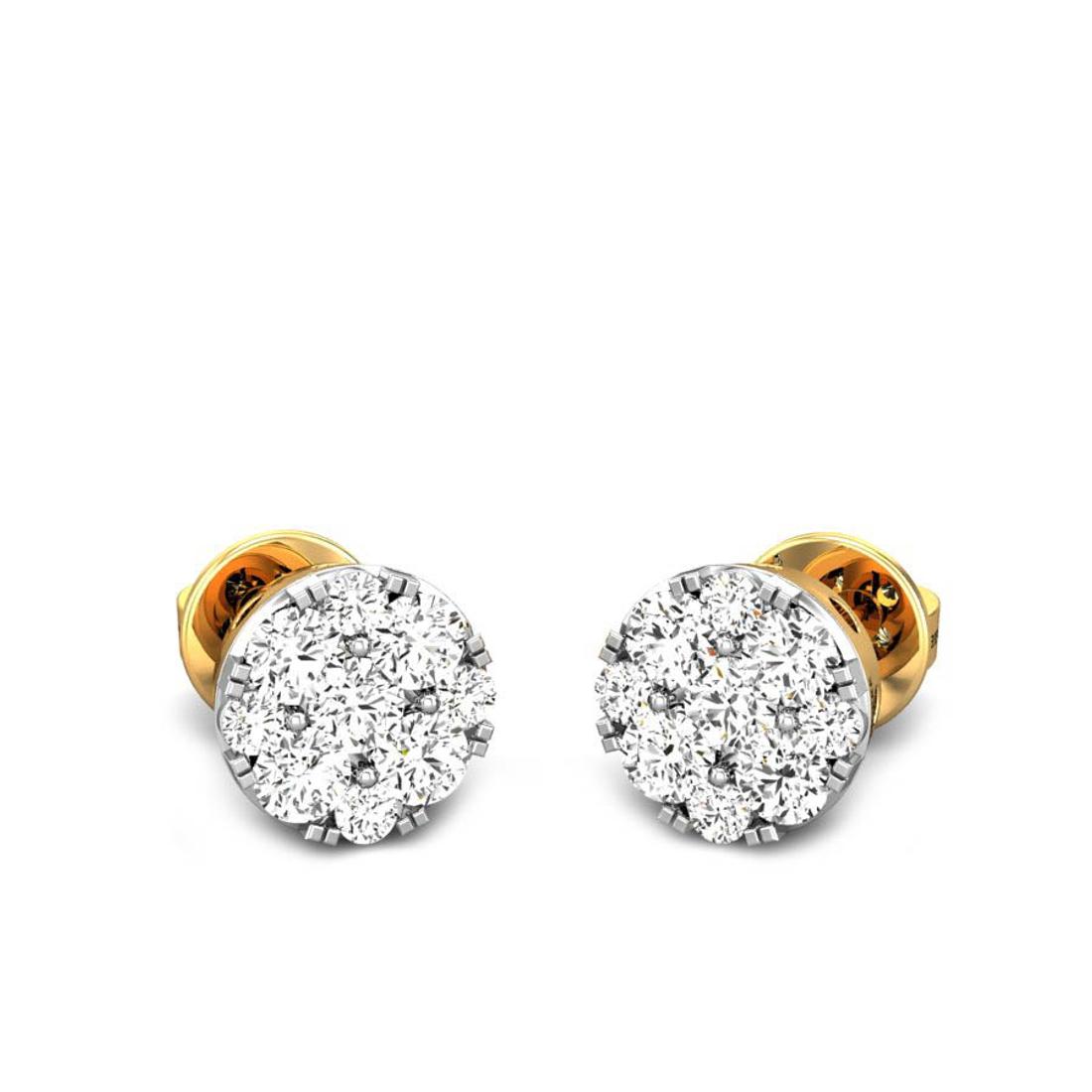 Candere by Kalyan Jewellers Yellow Gold Lucrecia Ziah Diamond Earrings for Women (IGI Certified Diamonds)
