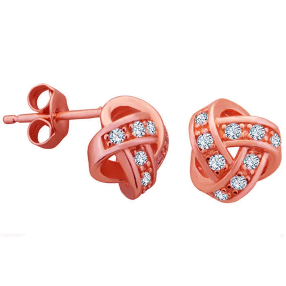Silver Shine 92.5 Streling Silver Rosy Zikzak Earring For Women & Girls