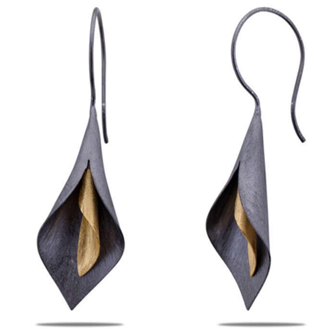 Silver Shine 92.5 Sterling Delicate Flower Sterling Silver Earring for Women & Girls