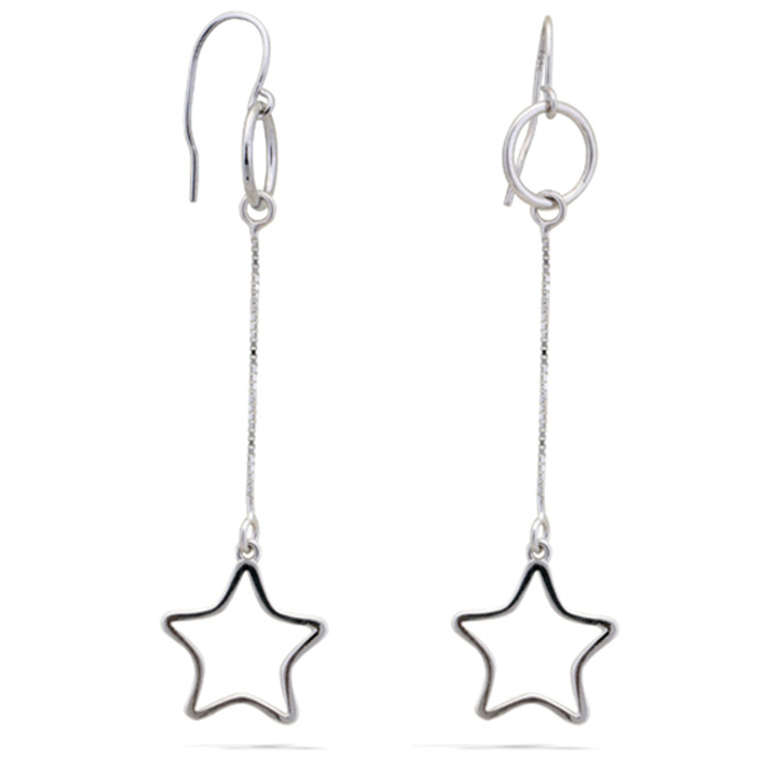 Silver Shine 92.5 Sterling Henging Star Silver Earring for Women & Girls