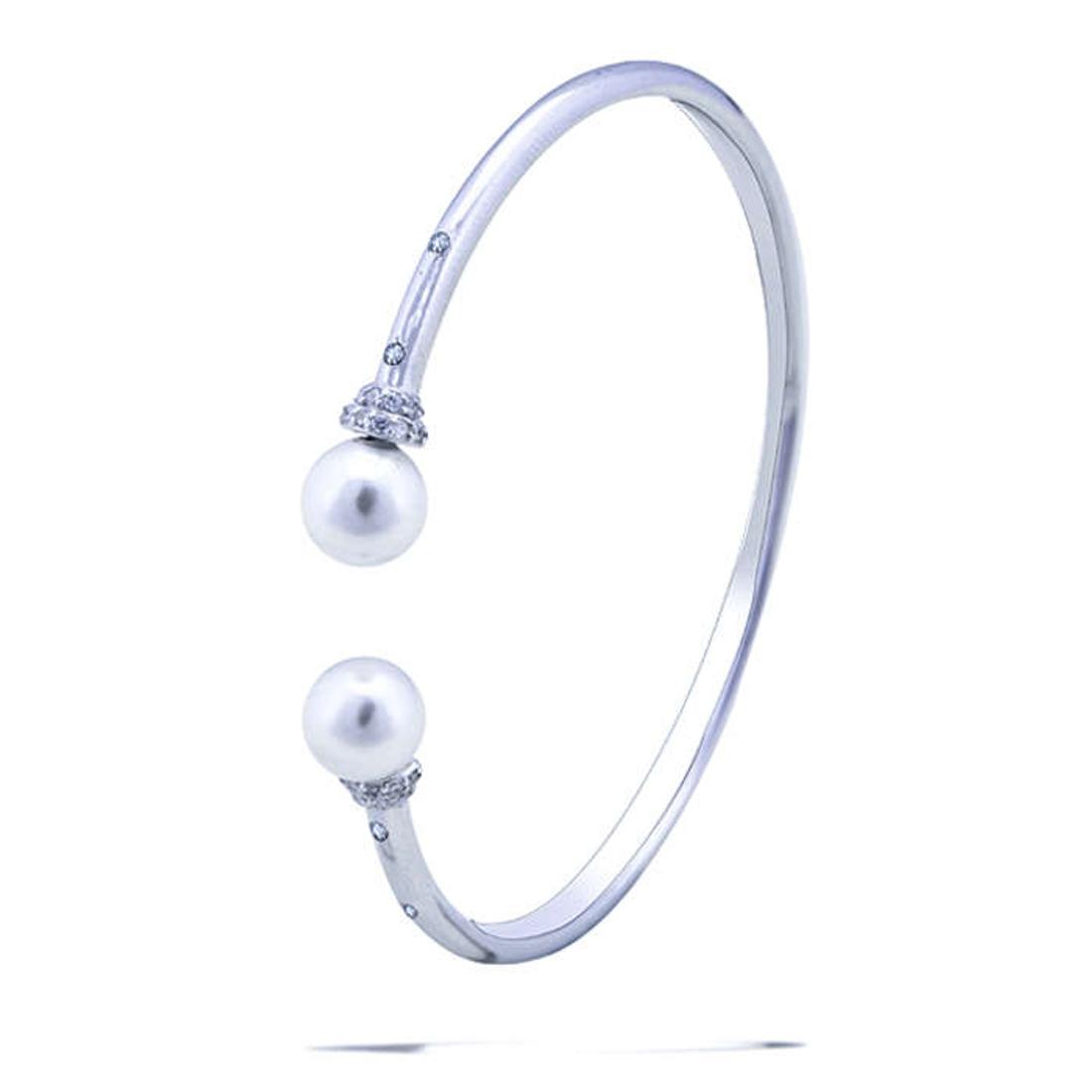 Silver Shine 92.5 Sterling SilverBeautiful Silver Hard Bracelet for Women & Girls
