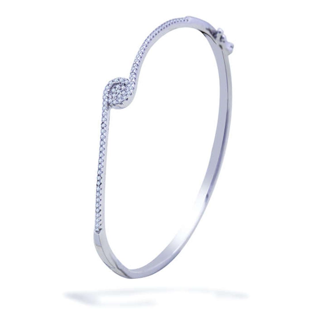 Silver Shine 92.5 Sterling SilverUnique  Diamond Bracelet for Women & Girls