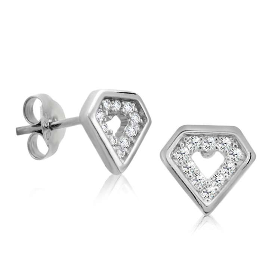 Silver Shine 92.5 Sterling Silver Diamond Style Silver Earring For Women & Girls