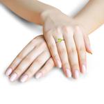Jewel samarth 18k(750) BIS Hallmark Yellow Gold Ayesha Peridot  Ring (CGL Certified)