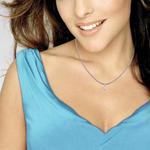 Candere by Kalyan Jewellers White Gold Lucrecia Ziah Diamond Pendant for Women (IGI Certified)