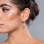 Silver Shine 92.5 Sterling Moonstone Teardrop Silver Earring for Women & Girls