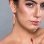 Silver Shine 92.5 Sterling Winsgs Rose Gold Unique Earringfor Women & Girls