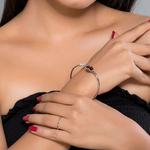 Silver Shine 92.5 Sterling SilverBlack Colour Silver Bracelet for Women & Girls