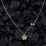 Silver Shine 92.5 Sterling SilverSweet Flower Sterling Silver  Necklace for Women & Girls