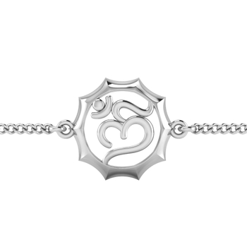 ISKI USKI 925 Silver Rakhi for Brother B-0023WR