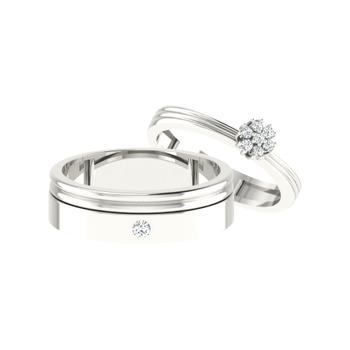 Parshva Jewels' Diamond Couple Band PJ-CB-0082