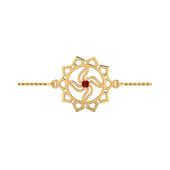 ISKI USKI 925 Silver Rakhi for Brother B-0014YGCSE