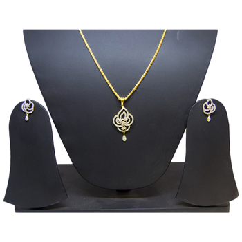 Anjalee Jewellers 22K Gold Pendant + Earring Set PSET/1781
