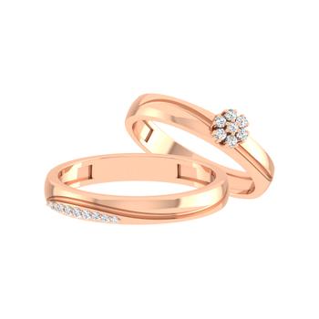 Parshva Jewels' Diamond Couple Band PJ-CB-0080