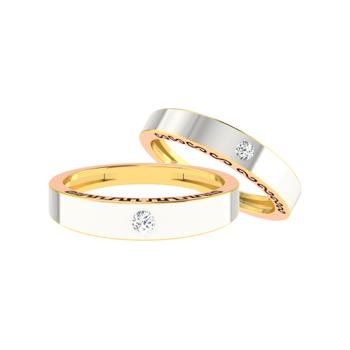 Parshva Jewels' Diamond Couple Band PJ-CB-0066