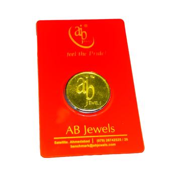 A B Jewels 20 gram 24KT (999) Yellow Gold Coin