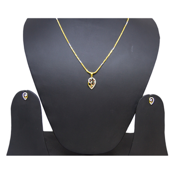 Anjalee Jewellers 22K Gold Pendant + Earring Set PSET/2102