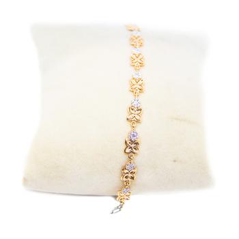 Anjalee Jewellers 18K Gold Bracelet studded with CZ Diamonds 18CLK/32