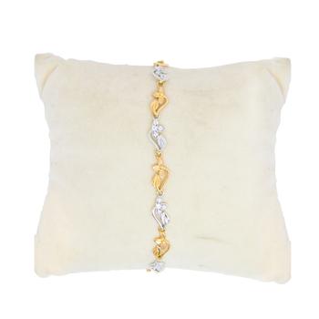 Anjalee Jewellers 18K Gold Bracelet studded with CZ Diamonds 18CLK/23