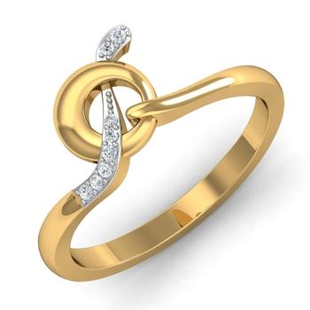 Arkina Diamond's Round cut twisted diamond ring